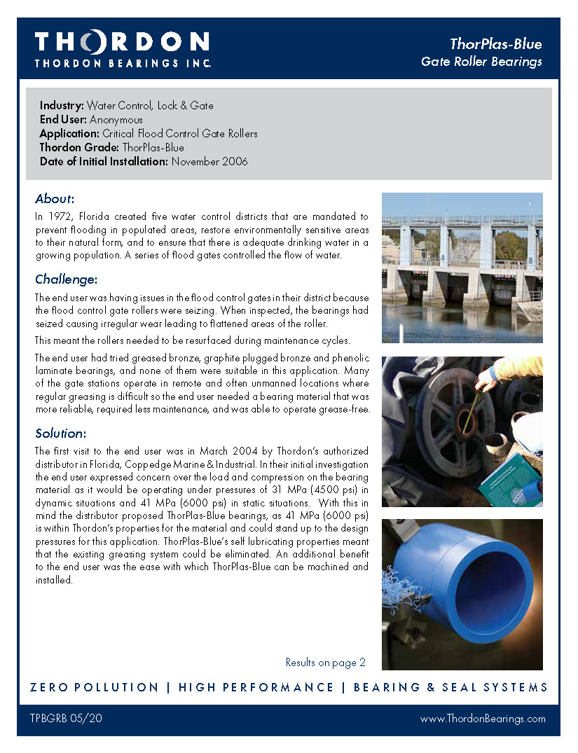 Gate Roller Bearings Flyer