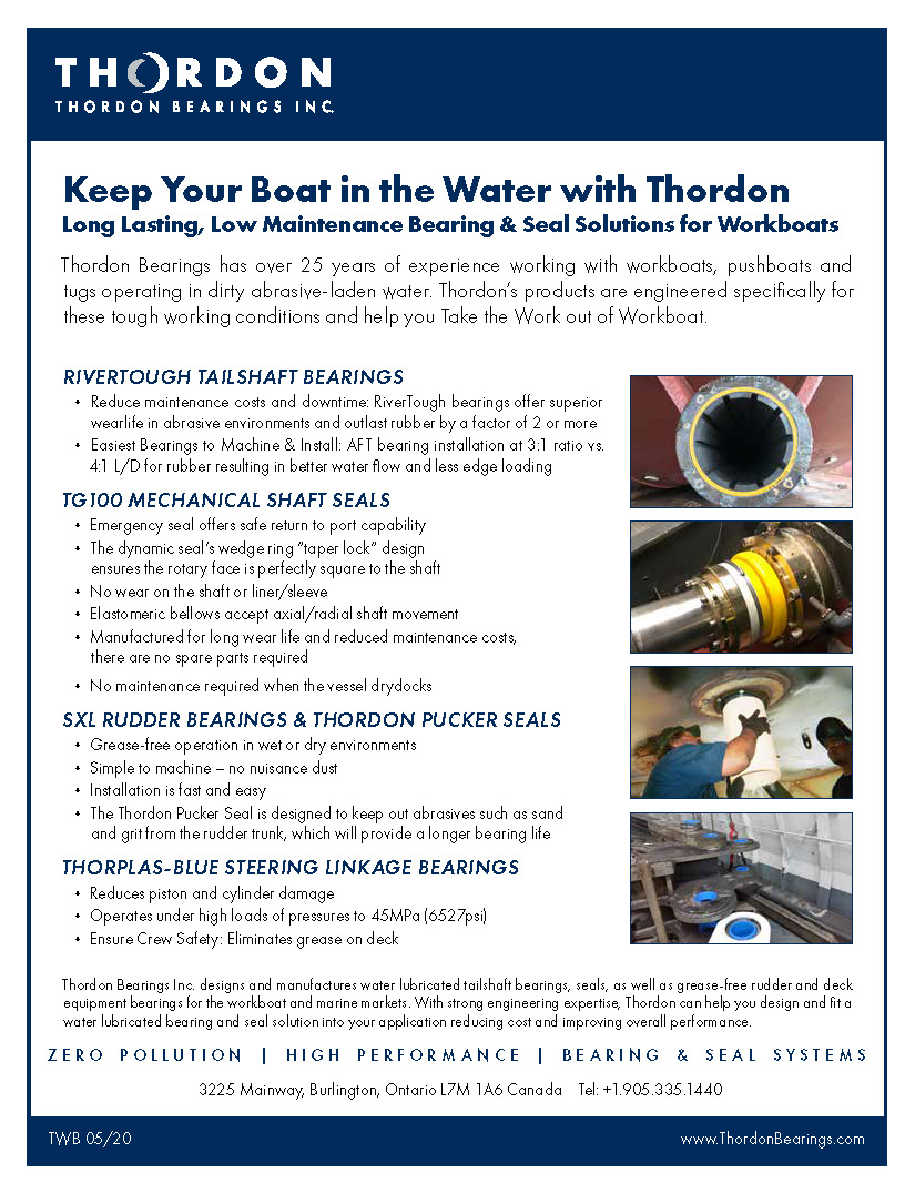Keep Your Boat in the Water with Thordon