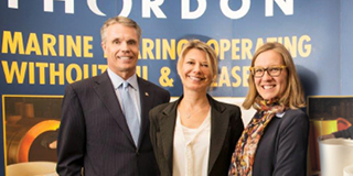 Mayor Goldring, Thordon CEO and Minister Gould