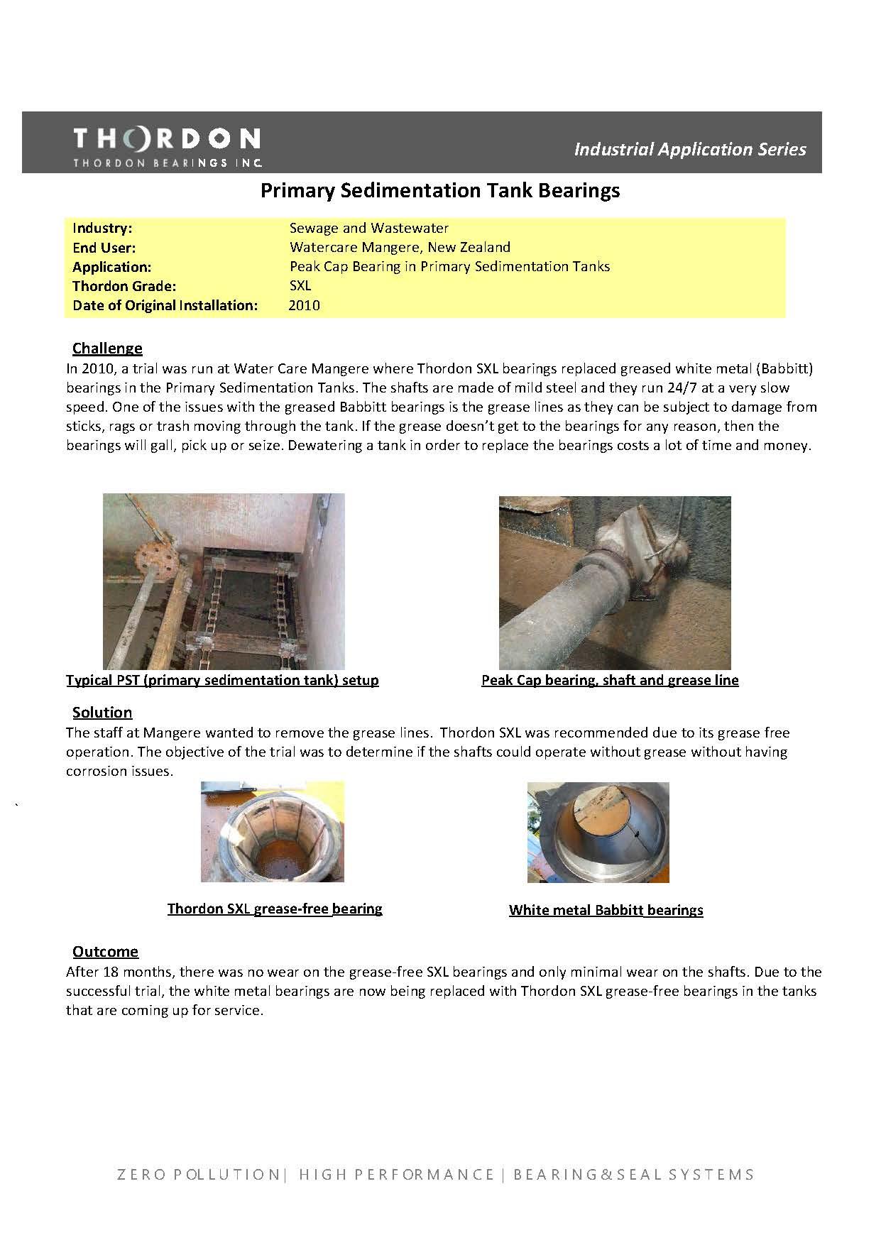15006- Thordon Primary Sedimentation Bearings