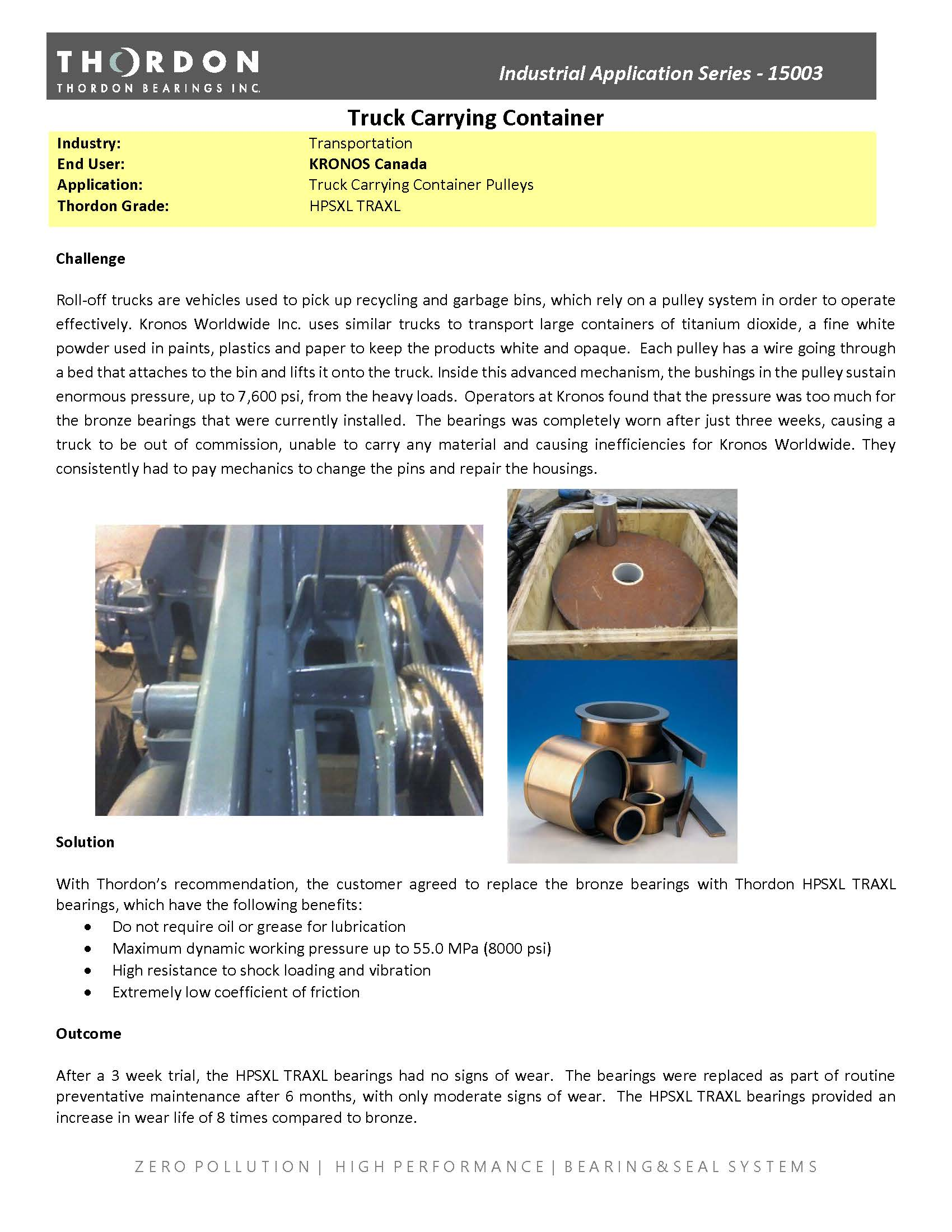 Truck Carrying Container Pulleys