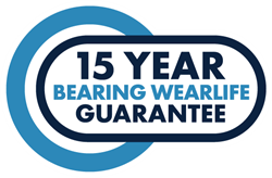 15 Year Bearing Wearlife Guarantee